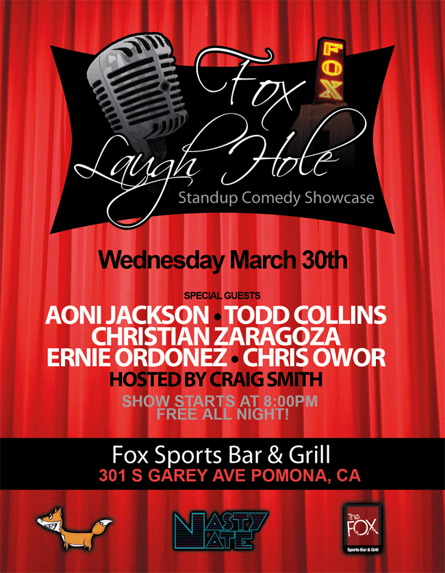 Fox Comedy Showcase in Pamona